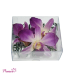 Purple preserved orchid with fern pot pourri